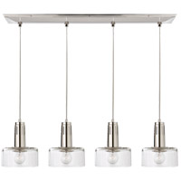 Thomas Obrien Iris 4 Light 37 inch Polished Nickel Linear Pendant Ceiling Light