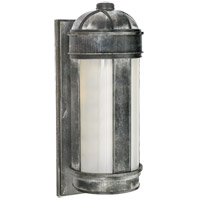 Visual Comfort Thomas OBrien Longacre 1 Light Outdoor Wall Lantern in Weathered Zinc with Frosted Glass Shade TOBO2120WZ