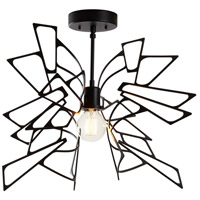 Vermont Modern 129022-1000 Monarch 1 Light 22 inch Black Semi-Flush Ceiling Light