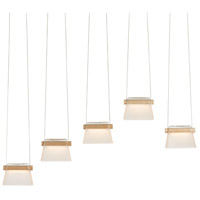 Vermont Modern 136570-1004 More Cowbell LED 6 inch Silver with Wood Accent Pendant Ceiling Light photo thumbnail