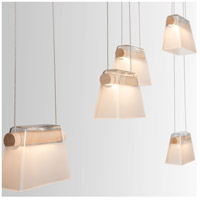 Vermont Modern 136570-1004 More Cowbell LED 6 inch Silver with Wood Accent Pendant Ceiling Light alternative photo thumbnail