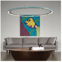 Vermont Modern 139744-1026 Ringo LED 62 inch Silver with Satin Aqua Accent Pendant Ceiling Light, Large alternative photo thumbnail