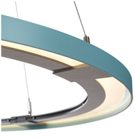 Vermont Modern 139776-1026 Ringo LED 33 inch Silver with Satin Aqua Accent Pendant Ceiling Light alternative photo thumbnail