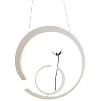 Vermont Modern 139872-1005 Loves Me LED 8 inch Satin White with Black Accent Pendant Ceiling Light