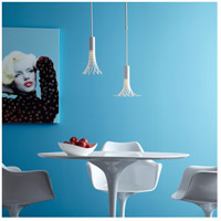 Vermont Modern 151025-1016 Full Bloom 1 Light 10 inch Satin White Mini Pendant Ceiling Light