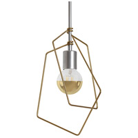 Vermont Modern 151030-1025 Filament 1 Light 10 inch Silver with Gold Accent Mini Pendant Ceiling Light
