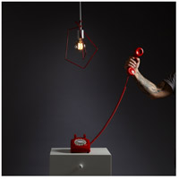 Vermont Modern 151030-1061 Filament 1 Light 10 inch Silver with Satin Red Accent Mini Pendant Ceiling Light