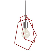 Vermont Modern 151030-1070 Filament 1 Light 10 inch Satin White with Satin Red Accent Mini Pendant Ceiling Light