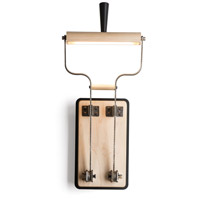 Vermont Modern 213320-1000 Old Sparky LED 7 inch Black with Wood Sconce Wall Light, Direct Wire