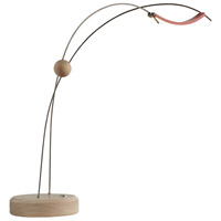Vermont Modern 277830-1007 Copernicus Satin Red with Wood Accent Table Lamp Portable Light