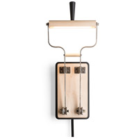 Vermont Modern 289465-1000 Old Sparky LED 7 inch Black with Wood Accent Sconce Wall Light