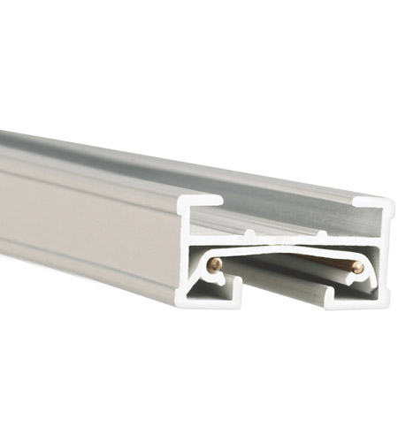 WAC Lighting JT8-WT 120v Track System White Track Section Ceiling Light in 8ft photo