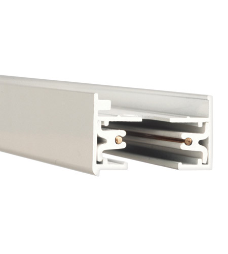 WAC Lighting LT2-WT 120V Track System White Track Section Ceiling Light in 24in photo