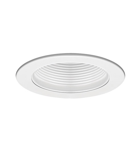 WAC Lighting R-420-WT/WT Recessed Lighting PAR20, R20, TRI-TUBE 4-PIN White Recessed Trim and Socket Ceiling Light in White (Recessed Lighting), IC and Non-IC Installations photo