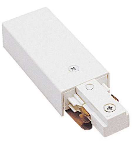 WAC Lighting J2-LE-WT 120V Track System White Track Live End Connector Ceiling Light in J2 photo