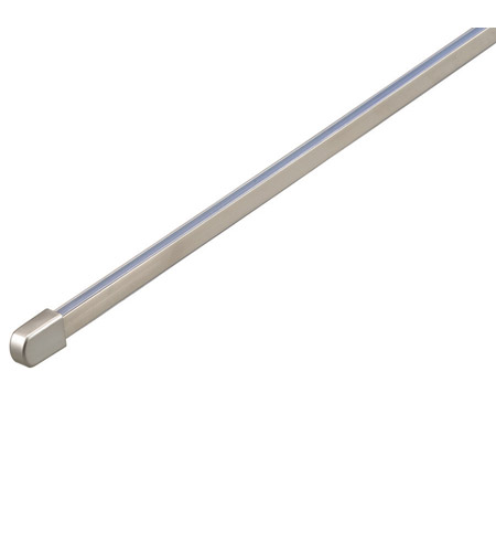 WAC Lighting LM-T8-BN Solorail Brushed Nickel Rail Section Ceiling Light in 8ft, Monorail photo