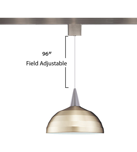 WAC Lighting LTK-F4-404BN/BN Cosmopolitan 1 Light 12 inch Brushed Nickel Pendant Ceiling Light in 100, L Track alternative photo thumbnail