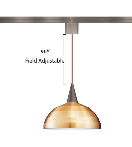 WAC Lighting LTK-F4-404CO/BN Cosmopolitan 1 Light 12 inch Brushed Nickel Pendant Ceiling Light in 100, Copper, L Track alternative photo thumbnail