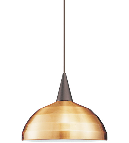WAC Lighting LTK-F4-404CO/BN Cosmopolitan 1 Light 12 inch Brushed Nickel Pendant Ceiling Light in 100, Copper, L Track photo thumbnail