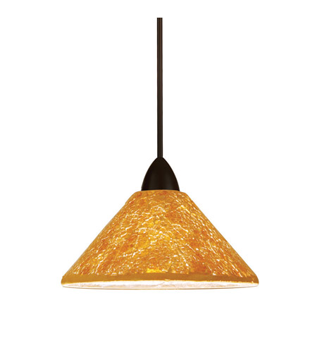 Contemporary Led 5 Inch Dark Bronze Pendant Ceiling Light In Gold Canopy Mount Mp
