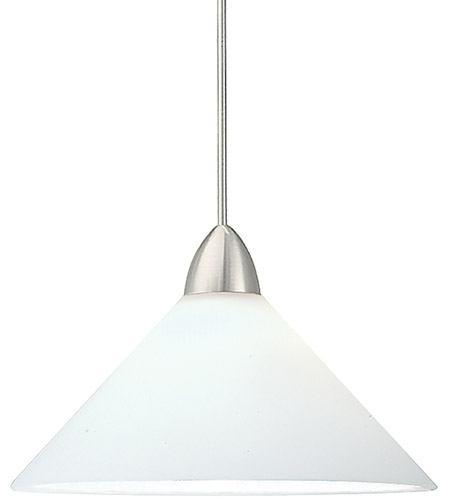 3 Light Led Ceiling Pendant Brushed Nickel Contemporary: WAC Lighting MP-LED512-WT/BN Contemporary LED 5 Inch