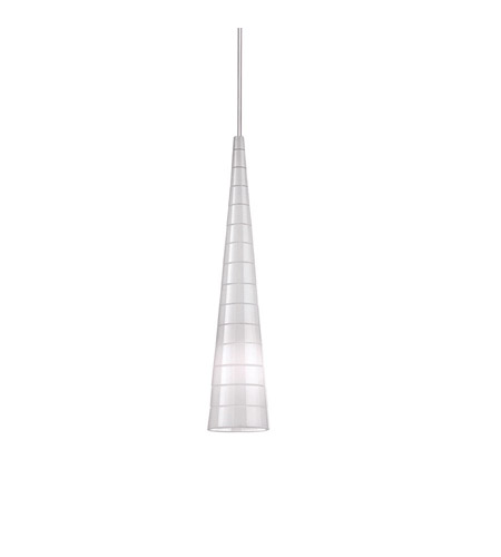 WAC Lighting MP-913LED-OE/BN European LED Brushed Nickel Pendant Ceiling Light in 2, Opal Etched, Canopy Mount MP photo