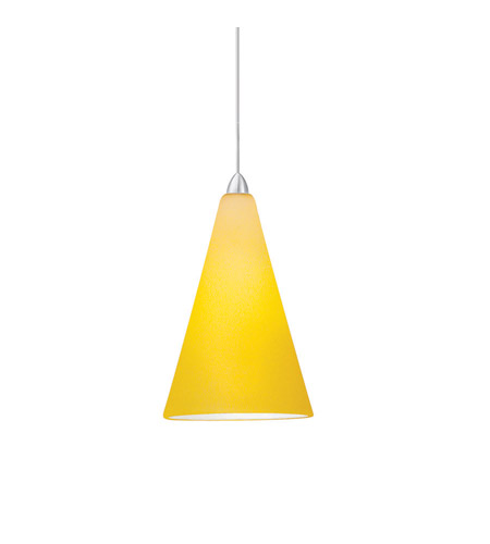 WAC Lighting MP-611-AM/BN April 1 Light 4 inch Brushed Nickel Monopoint Pendant Ceiling Light in Amber (April), Canopy Mount MP photo