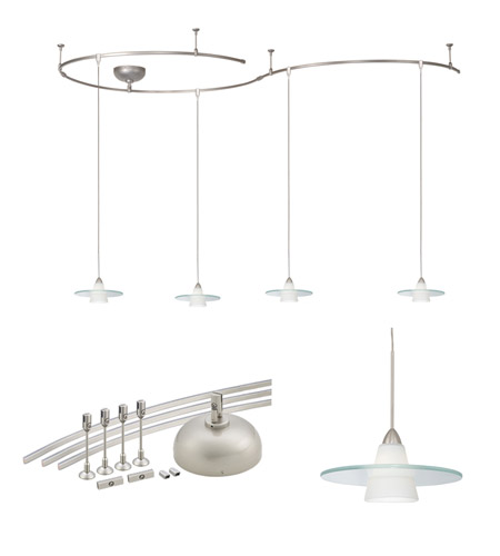 Wac lighting solorail pendant kit in brushed nickel lm k517 wtbn mozeypictures Choice Image