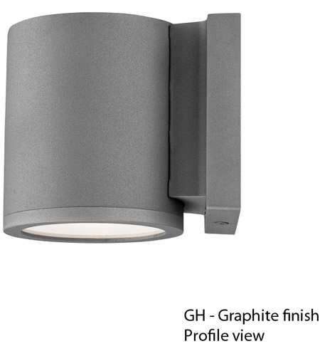 WAC Lighting WS-W2605-GH Outdoor Lighting 5 inch Graphite Outdoor Wall Mount photo