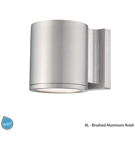 Wac Lighting Ws W2605 Al Outdoor 5 Inch Brushed Aluminum Wall Mount