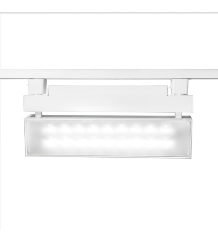 WAC Lighting L-LED42W-35-WT 120V Track System 1 Light White LEDme Directional Ceiling Light in 3500K, L Track photo
