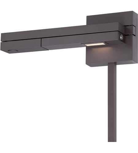 WAC Lighting BL-1021L-BZ Flip 10 inch 8.50 watt Bronze Swing Arm Wall Light in Left photo