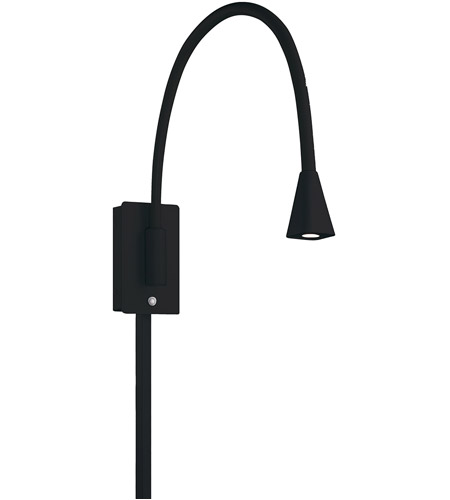 WAC Lighting BL-1630-BK Stretch 25 inch 17.24 watt Black Swing Arm Wall Light photo