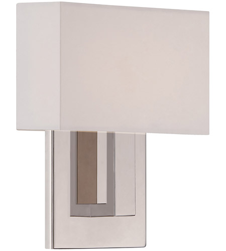 Wac Lighting Ws 13107 Pn Manhattan Led 7 Inch Polished Nickel Ada Wall Sconce Light