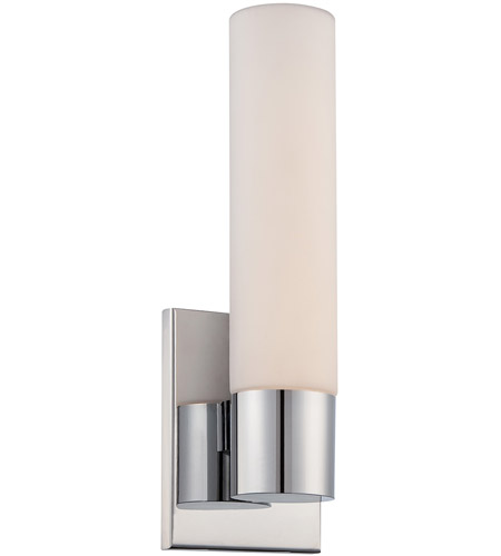 wac lighting ws7213ch elemental led 5 inch chrome vanity sconc - Wac Lighting