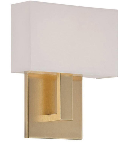 Ada Wall Sconces Led : WAC Lighting WS-13107-BR Manhattan LED 7 inch Brushed Brass ADA Wall Sconce Wall Light