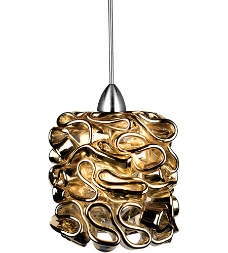 Wac Lighting Mp Led544 Gl Ch Eternity Jewelry Led 5 Inch Chrome Pendant Ceiling Light In Gold Canopy Mount