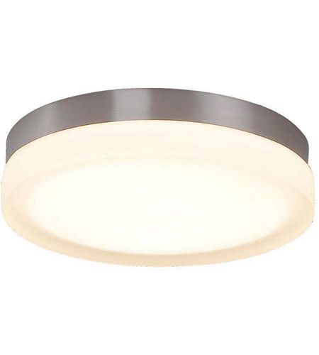 WAC Lighting FM 4109 30 BN Slice LED 9 Inch Brushed Nickel Flush Mount  Ceiling Light In 3000K