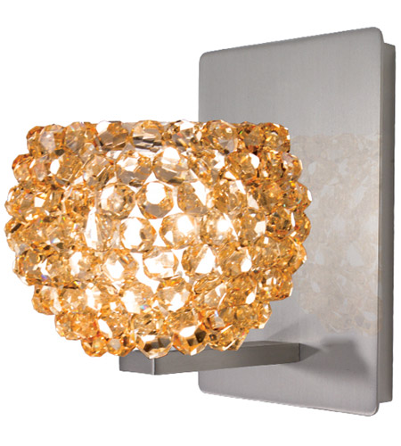 WAC Lighting WS58-G542CD/BN Eternity Jewelry 1 Light 5 inch Brushed Nickel Wall Sconce Wall Light photo