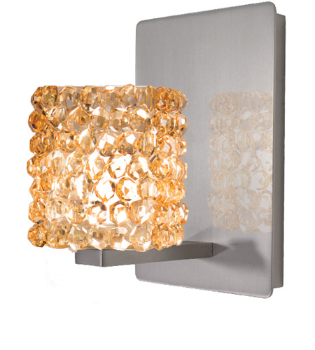 WAC Lighting WS58-G539CD/BN Eternity Jewelry 1 Light 3 inch Brushed Nickel Wall Sconce Wall Light photo