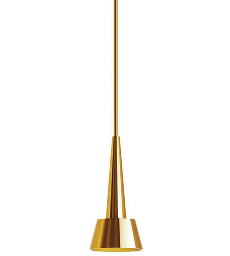 Wac Lighting Pd 51712 Br Rocket Led 5 Inch Brushed Pendant Ceiling Light