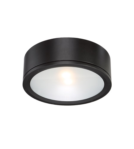 wac lighting fm w2612 bk tube led 12 inch black indoor outdoor flush
