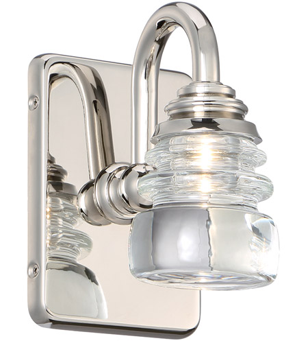 WAC Lighting WS-42505-PN Rondelle LED 5 inch Polished Nickel Wall Sconce Wall Light, dweLED photo thumbnail