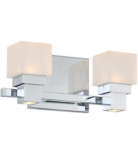 WAC Lighting WS 44512 CH Kube LED 12 Inch Chrome Wall Sconce Wall Light,  DweLED