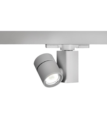 WAC Lighting WTK-1014F-827-PT Architectural Track System 1 Light 120V Platinum LEDme Directional Ceiling Light in 2700K, 85, 40 Degrees photo