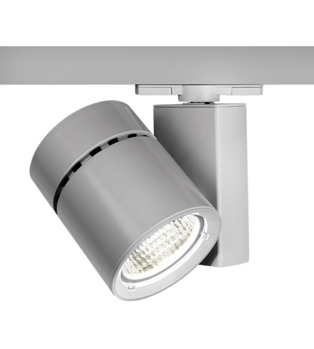 WAC Lighting WTK-1052F-930-PT Architectural Track System 1 Light 120V Platinum LEDme Directional Ceiling Light in 3000K, 90, 55 Degrees photo