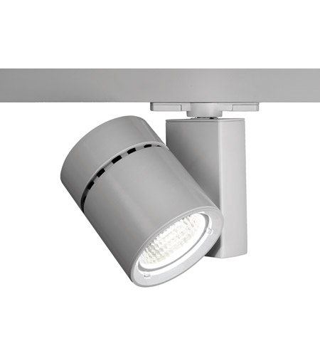 WAC Lighting WHK-1035F-840-PT Architectural Track System 1 Light 277V Platinum LEDme Directional Ceiling Light in 4000K, 85, 55 Degrees photo
