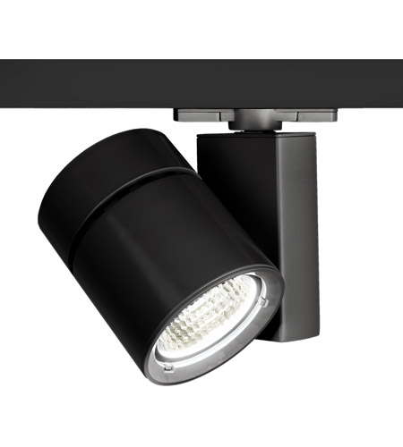 WAC Lighting WHK-1052F-840-BK Architectural Track System 1 Light 277V Black LEDme Directional Ceiling Light in 4000K, 85, 55 Degrees photo