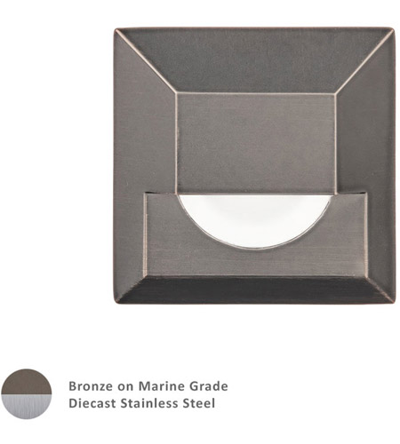 WAC Lighting 2061-30BS Landscape 12v 4.00 watt Bronzed Stainless Steel Step and Wall Light photo