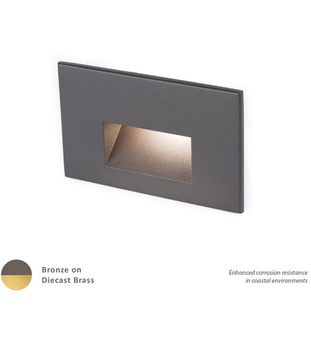 WAC Lighting 4011-27BBR Landscape 12v 2.00 watt Bronzed Brass Step and Wall Light in 2700K, Frosted  photo